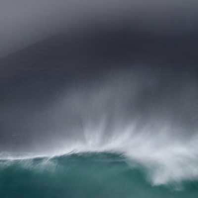 One of a series of photographs inspired by the BBC shipping forecast, wave on a stormy day in the Outer Hebrides