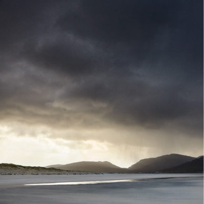 Inspired by the BBC radio 4 shipping forecast, stormy skies over Luskentyre beach, outer Hebrides