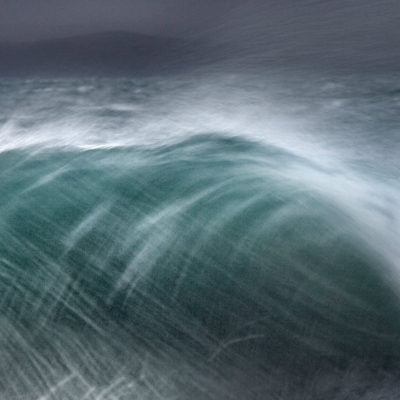 Inspired by the BBC Radio 4 shipping forecast, wave on a stormy day in the Outer Hebrides