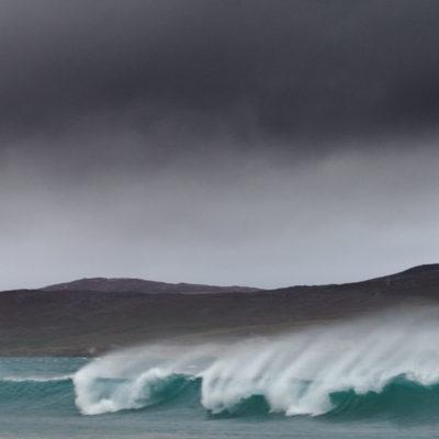 Crashing waves at Rosamol beach on the Isle of Harris