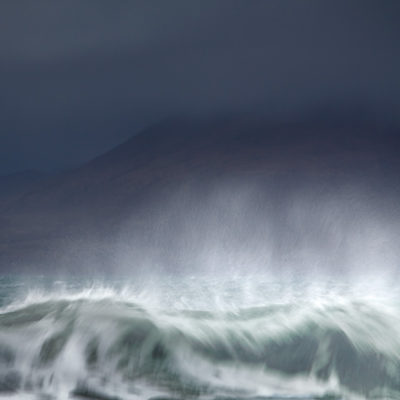 crashing wave on the Outer Hebrides, inspired by the BBC Radio 4 shipping forecast