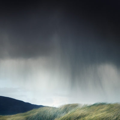 stormy skies over the dunes on the Isle of Harris
